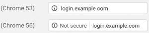 Google Chrome Version 56 not secure warnung